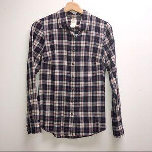 J. Crew Button Up Plaid Shirt 0